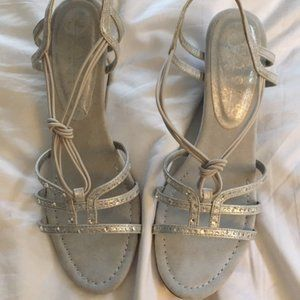 Silver Sandal Shoes Size 9